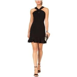 19 Cooper Criss-Cross Front Ruffled Party Dress